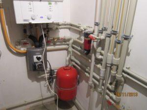 установка газового котла BOSCH и группы Thermix