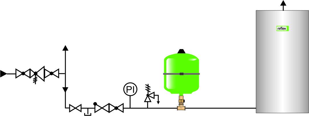 расширительный бак для горячей воды ГВС REFIX DD 25