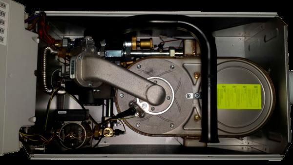Внутреннее устройство газового конденсационного котла Vaillant VU 656