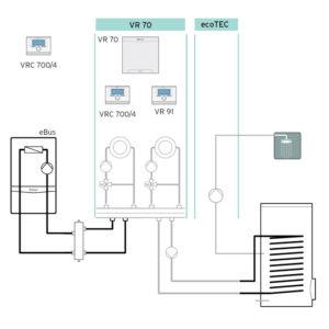 Схема 6: Подключение погодозависимой автоматики VRC 700