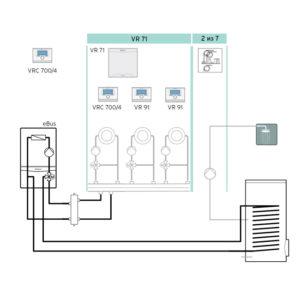 Схема 7: Подключение погодозависимой автоматики VRC 700
