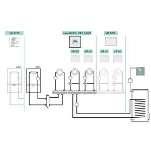 Схема 8: Подключение погодозависимой автоматики VRC 700
