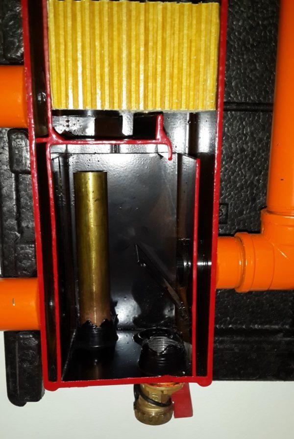 Гидрострелка Meibes в разрезе