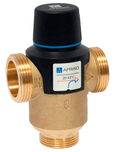 термостатический трехходовой клапан afriso