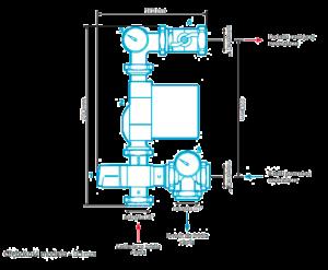 Размеры-смесительного-узла-Afriso-9050110