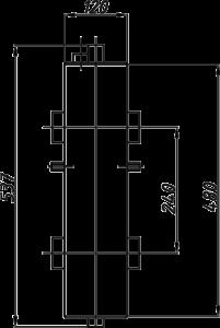 Размеры гидрострелки Termojet в изоляции ck-27-02