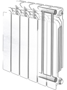 радиатор биметаллический dukla в разрезе Standard Hidravlika.