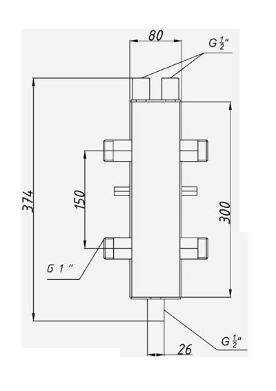 Гидрострелка Termojet в изоляции ck-25-02