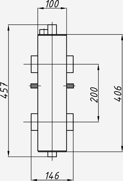 Размеры гидрострелки Termojet в изоляции ck-26-02