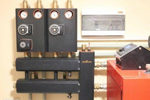 termojet коллектор с гидрострелкой в котельной
