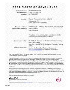 Сертификат компетентности Maincor