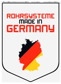 Схематичный логотип сделано в Германии