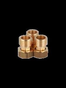 Комплект никелированных резьбовых соединений с обратными клапанами, Afriso, 1220110