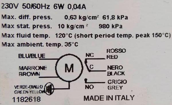 Технические характеристики на трехходовой клапан SF 25 M1S