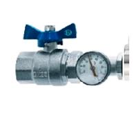 Запорный кран и термометр гребенки ASB