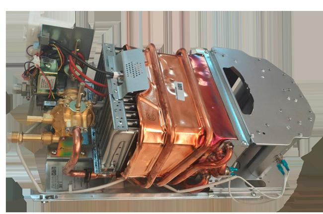 Внутреннее устройство газовой колонки Bosch W 10 KB