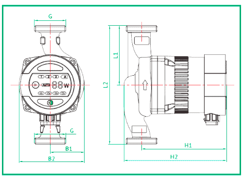 Установочные размеры насосов UNIPUMP серии LPA