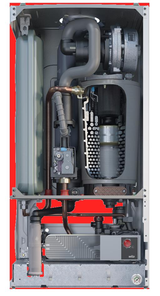 Bosch Condens 2500 W в разрезе