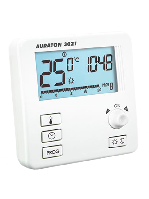 Проводной недельный регулятор температуры Auraton 3021
