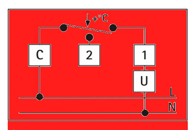 Схема подключения термостата с погружной гильзой AFRISO