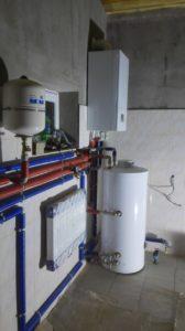 монтаж газового котла protherm и бойлера aquastic