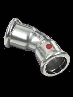 Фитинг SANHA отвод 45гр сталь под пресс арт. 24041