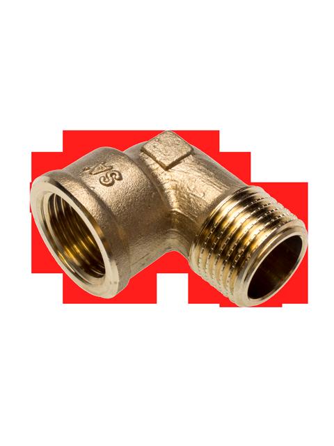 Фитинг SANHA из бронзы отвод 90 градусов, ВР-НР, арт. 3092