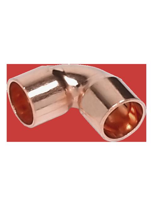 Отвод SAHNA 90 градусов из меди под пайку, ВП-ВП, арт. 15090