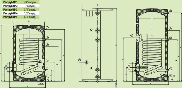 Схема Drazice OKC 250 NTR/BP