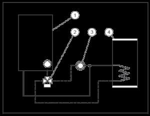Схема подключения конденсационного котла Vaillant VU 486 5-5 без гидрострелки