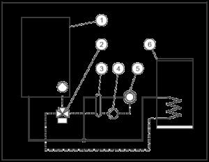 Схема подключения конденсационного котла Vaillant VU 486 5-5 c гидрострелкой
