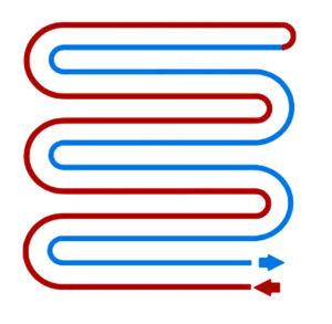 метод и способ укладки теплого пола двойной змейкой