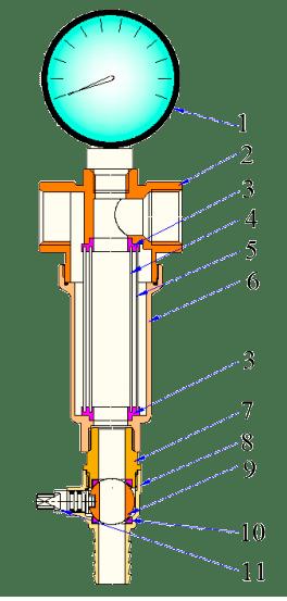 Устройство промывного фильтра VALTEC 389.N