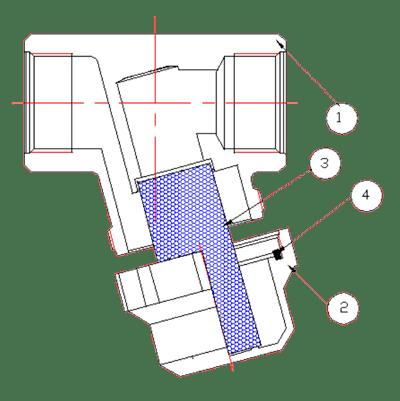 Устройство универсального фильтра Valtec 386.N.05