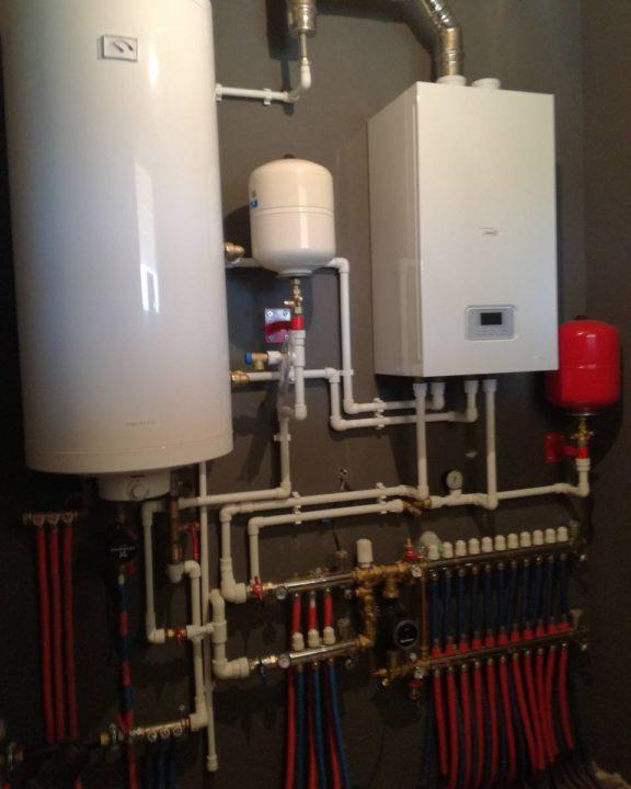 монтаж отопления дома газовым котлом Protherm