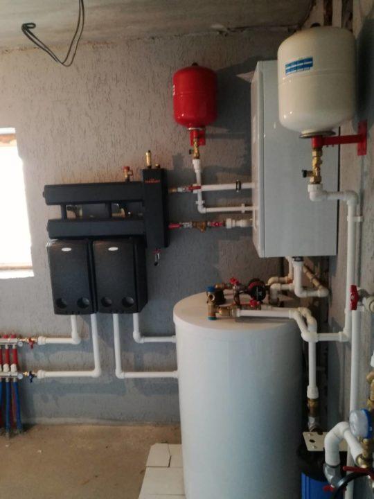 отопление дома с насосными группами meibes и термоджет