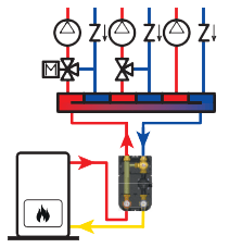прикладная схема насосной группы Barberi 15G0250IXA с противоконденсатным клапаном