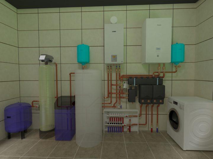 3-D проект отопления частного дома