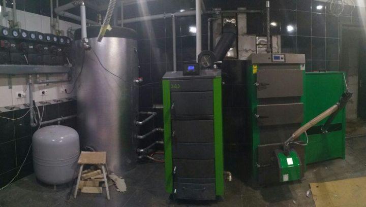 Монтаж системы отопления с пеллетным твердотопливным котлом SAS