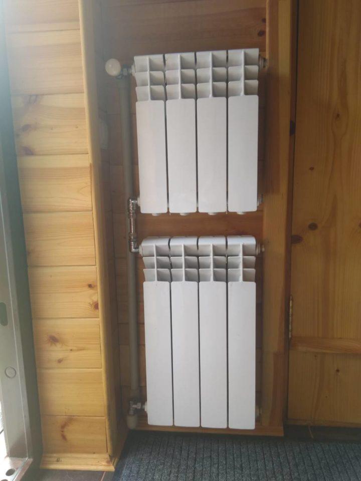 Монтаж алюминиевых радиаторов Fondital