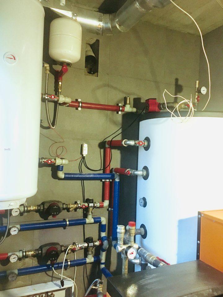 Монтаж системы отопления с пеллетным котлом