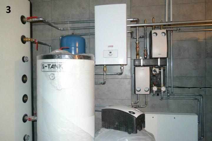 Отопление с электрическим котлом Protherm Скат и оцинкованными трубами