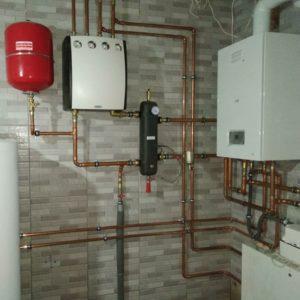 Недорогой монтаж систем отопления с котлом PROTHERM 25 KTO и медная труба SANHA