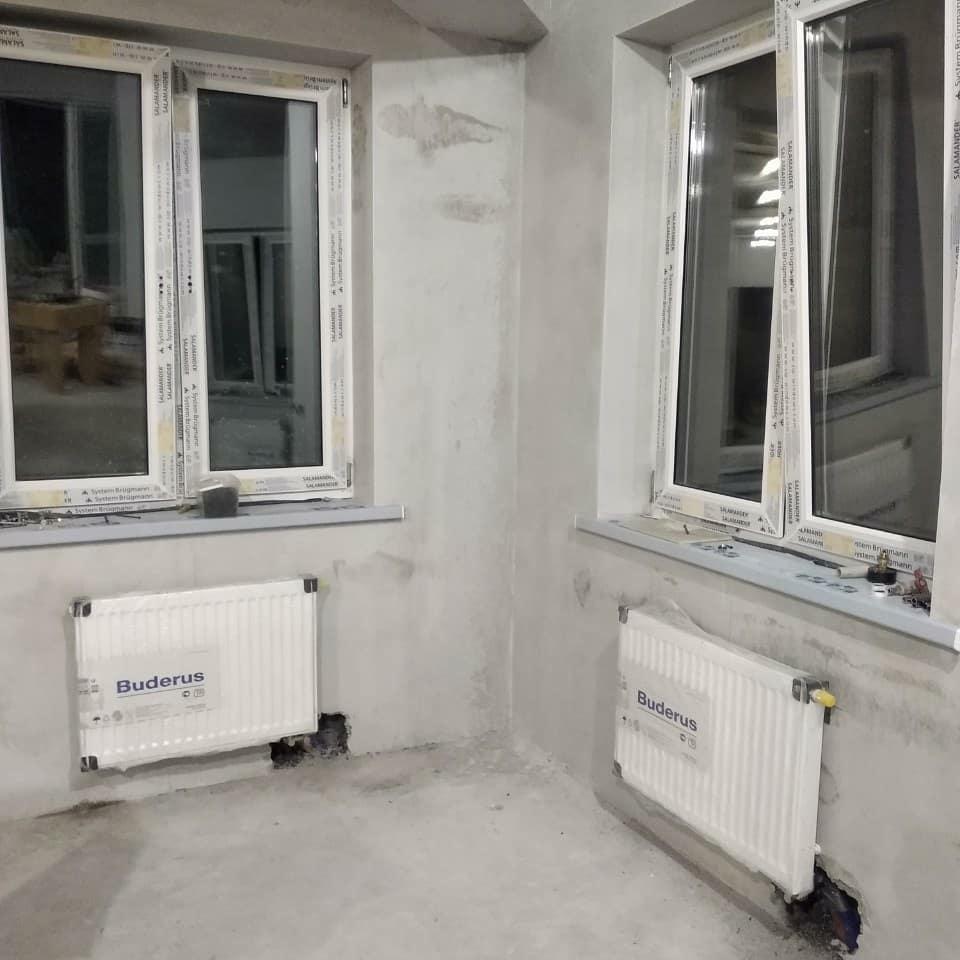 установка радиаторов BUDERUS в квартире Минск