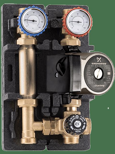 насосно-смесинасосно-смесительная группа с термостатическим смесительным клапаном Barberi 02g02000LEтельная группа Barberi 02g02000LE