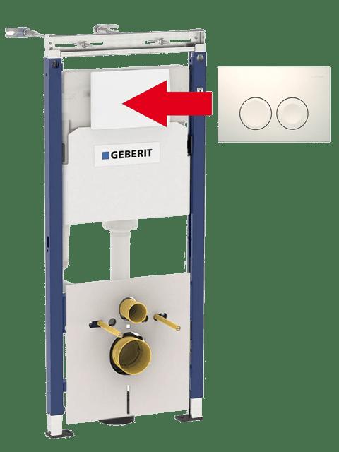 Geberit Duofix Plattenbau+ кнопка кнопка Delta 21 белая арт.458.122.11.1