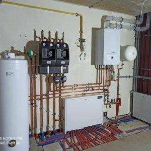 монтаж системы отопления с конденсационным котлом Vaillant в Минске