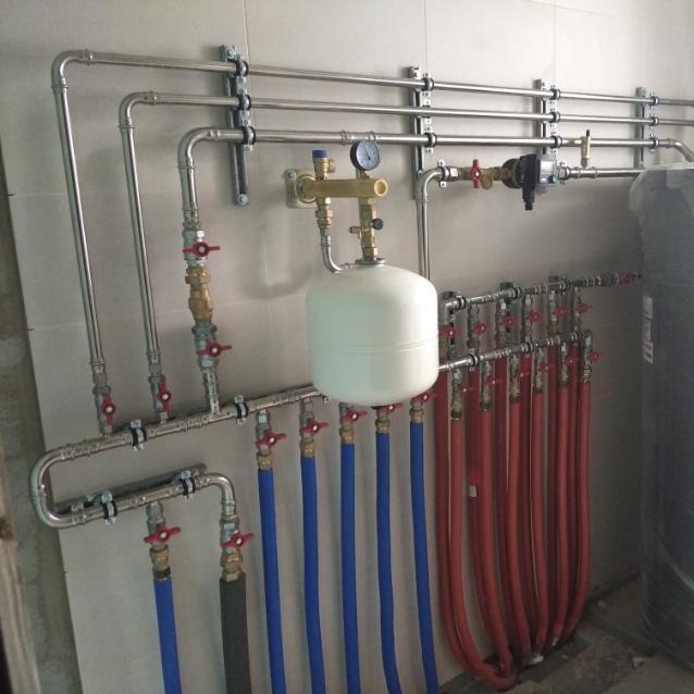 Проклимат монтаж системы отопления дома в минском районе по схеме первичных и вторичных колец