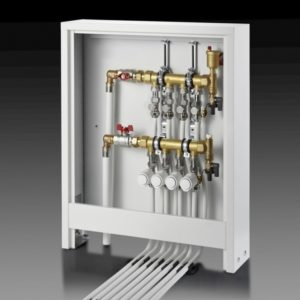 Шкаф коллекторный наружный для теплого пола и радиаторов