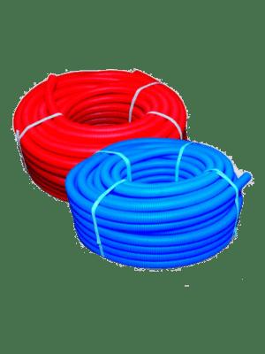 Труба-защитная-гофрированная-пешель-красная-и-синяя